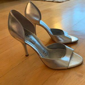Silver Cathy Jean heels